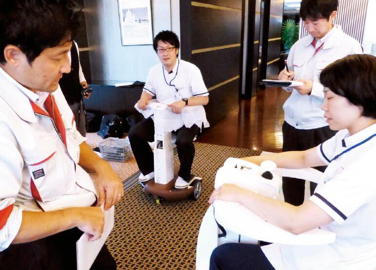 アイザックの筆頭株主であり、共同開発を行っている会津中央病院でのテストの様子