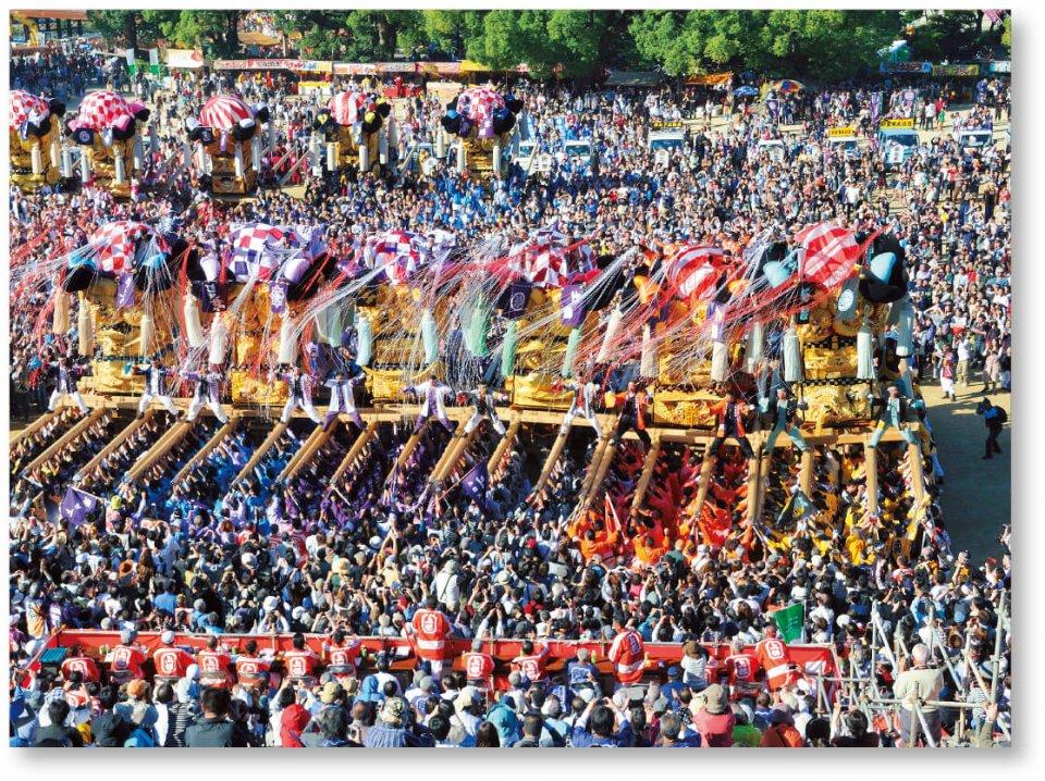 四国3大祭りの一つに数えられる新居浜太鼓祭り。毎年10月中旬の祭り期間中は、県内外から大勢の観衆を集める。「盆や正月に帰らなくても、祭りには帰る」という人も多くいるという