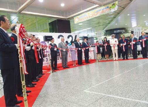 埼玉県JR大宮駅で行われた「北海道新幹線開業に向けた食・観光プロモーション」の様子