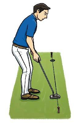 真っすぐにゴムひもを張って、その線に沿ってストロークする