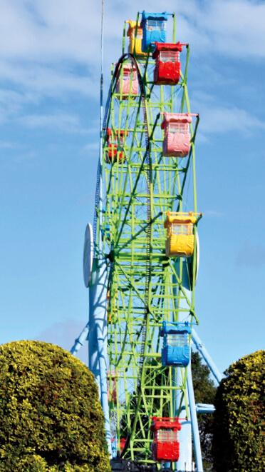 鹿児島出身の歌手・長渕剛さんの歌に登場する「黄色い観覧車」は城山公園の観覧車だ