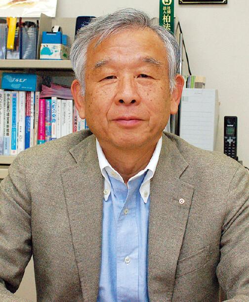 柏二番街商店会理事長の石戸新一郎さん。「常に10年先を見据えて、今やること、5年後にやること、10年後にやること、を考えていかないといけません」