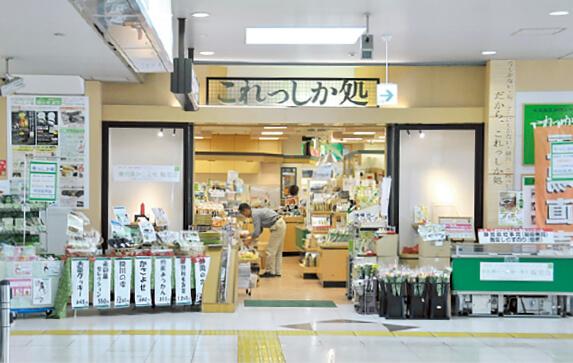 静岡県内のさまざまな特産品を販売している「これっしか処」