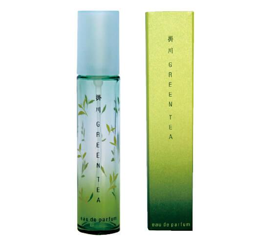 掛川商工会議所が発売した緑茶の香水「掛川グ ▲自然の甘みが感じられる掛川茶リーンティオードパルファムふじのくに」