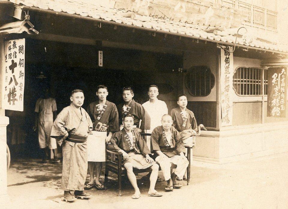 大正時代の十八楼玄関前