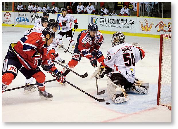 国内初となる「スポーツ都市宣言」を行った苫小牧市。アイスホッケーが盛んなことでも知られる