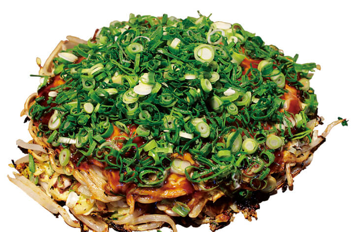 地ダコ、エビ、豚肉などを使った広島風お好み焼き「あわじしまぬーどる焼き」