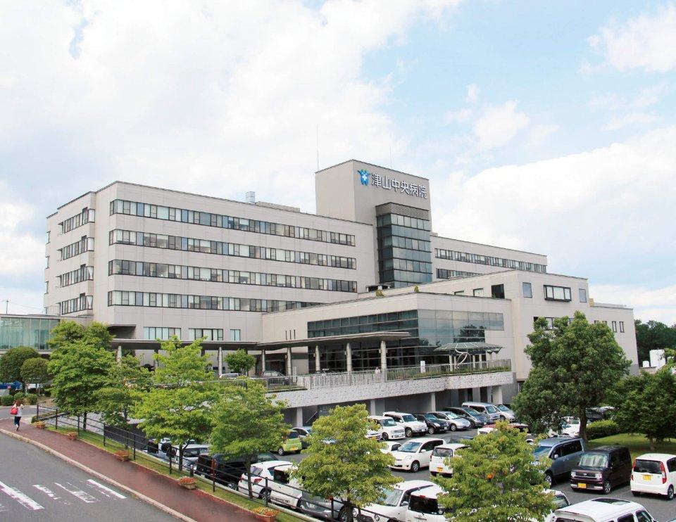 この4月にがん陽子線治療センターを開設した「津山中央病院」。陽子線治療ができる総合病院は、西日本ではここだけ