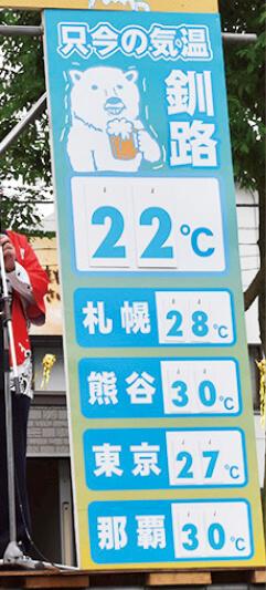 「日本一涼しいまち」をPRするビアガーデン事業。おもてなしが大好評だ