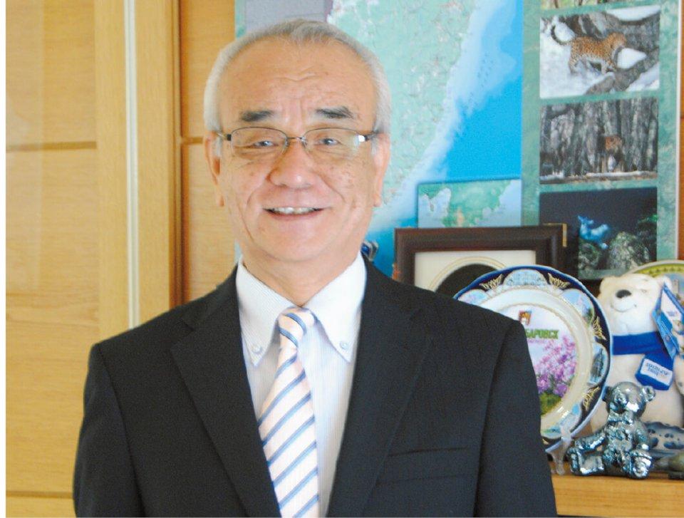「ロシアにとって日本は近い国です。日本にとってもロシアが近い国になるように、サポートしていきたい」と語る高橋克弘社長