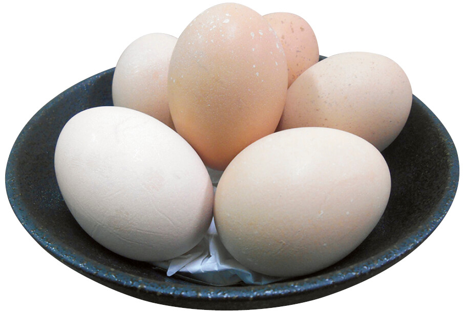 桜吹雪模様が特徴の「名古屋コーチン卵」