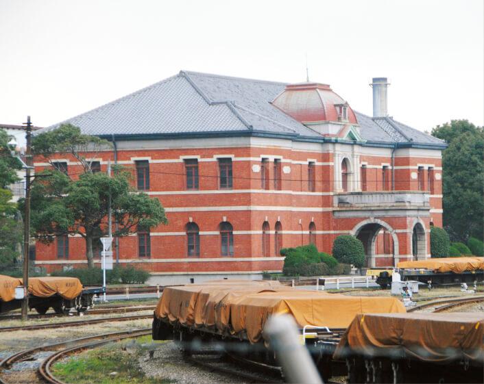 世界文化遺産に登録された官営八幡製鉄所の関連施設の遠景