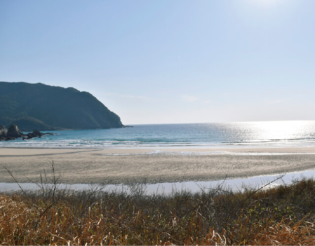 日本の渚100選・快水浴場100選に選ばれている「高浜ビーチ」