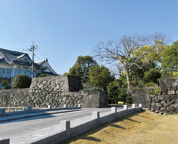 江戸時代最後に築城された福江城(石田城)跡