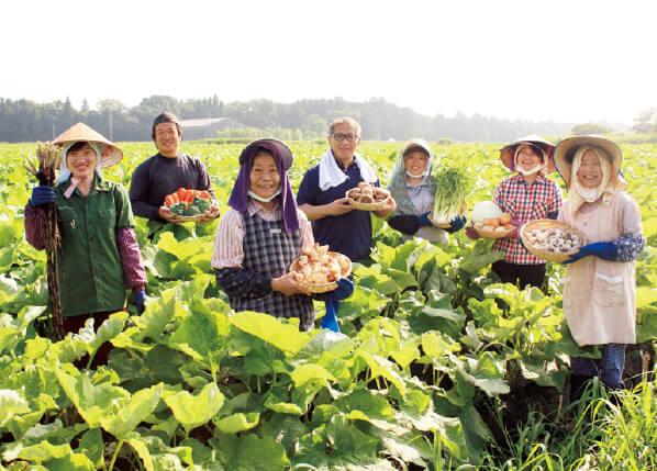 野菜を提供してくれている協力農家の皆さん