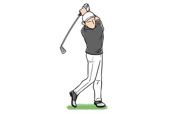 体の動きとバランスが良いと、フィニッシュのとき左足一本で静止しても安定している