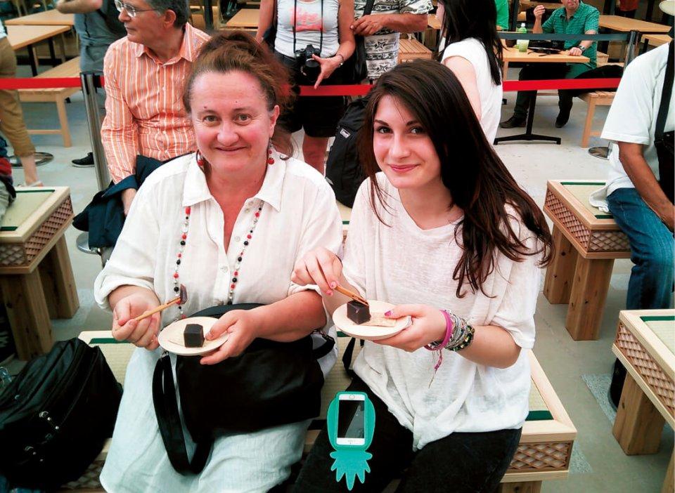 ミラノ博での試食では、多くの来場者からその味を賞賛された