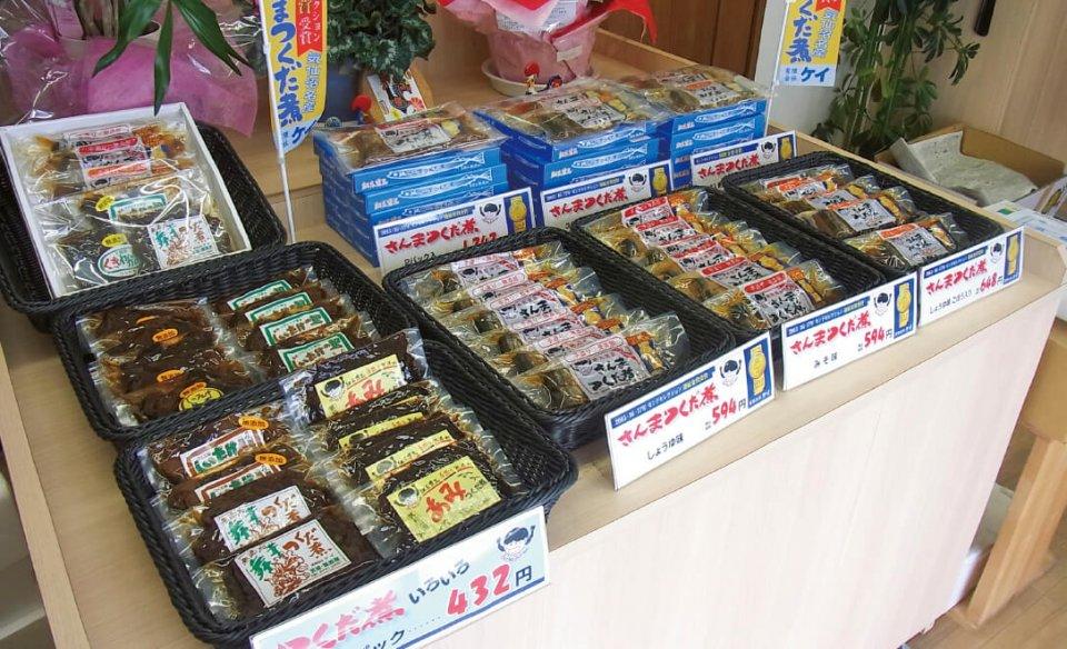 佃煮の甘い香りが広がる仮店舗の販売スペース