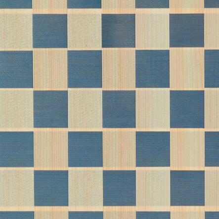 ヒノキと杉(藍染)×市松