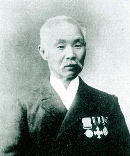 初代渡邉熊四郎。事業の発展だけではなく函館のまちづくりにも多大な貢献をした
