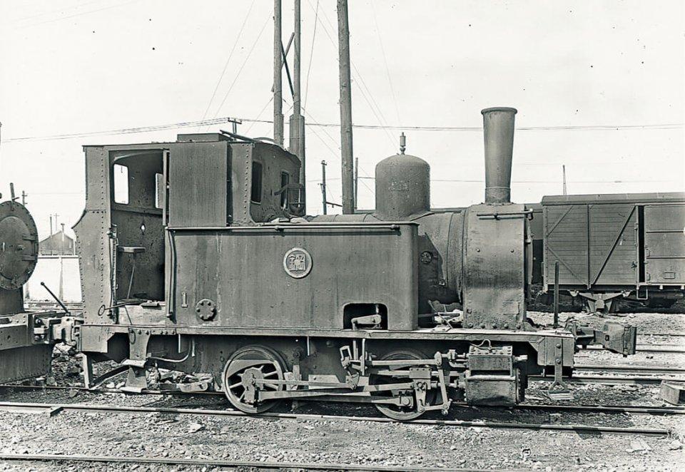 芦澤鉄工所が製造に関わった蒸気機関車。当時の設計図は今も残っている
