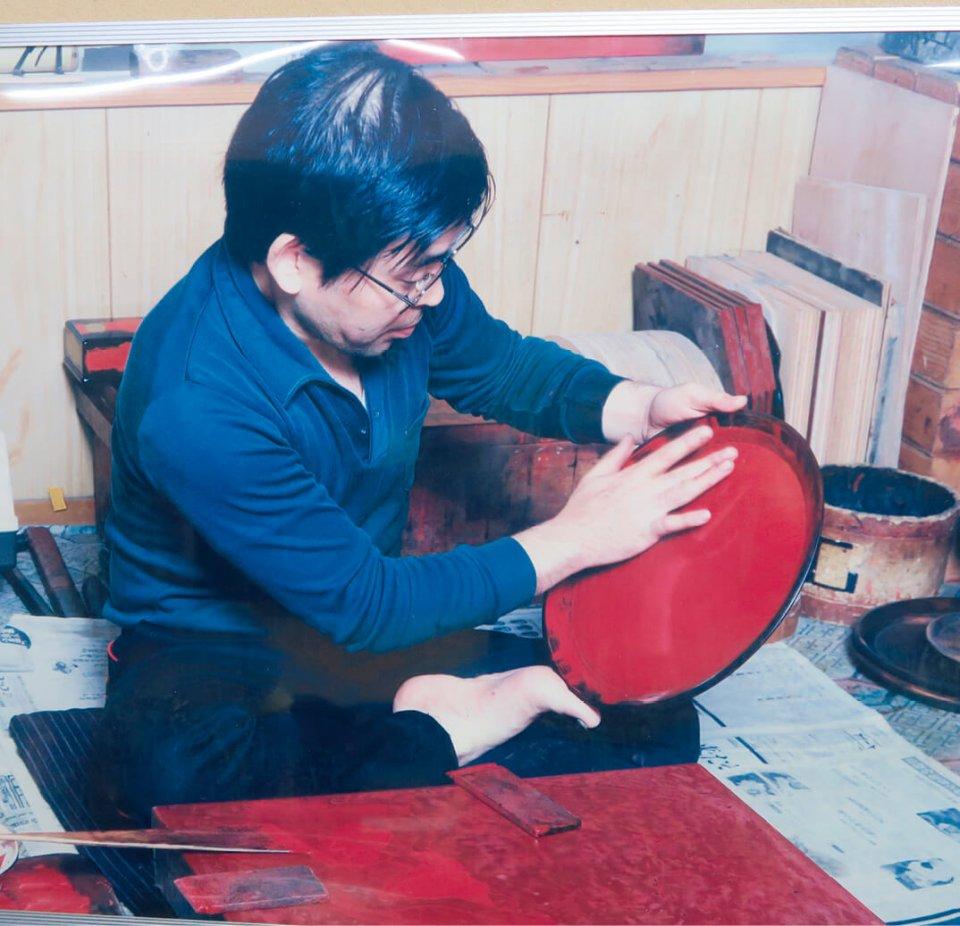 先代の昌基さん。後藤塗を家庭でも使えるよう、親しみやすいものにしていった