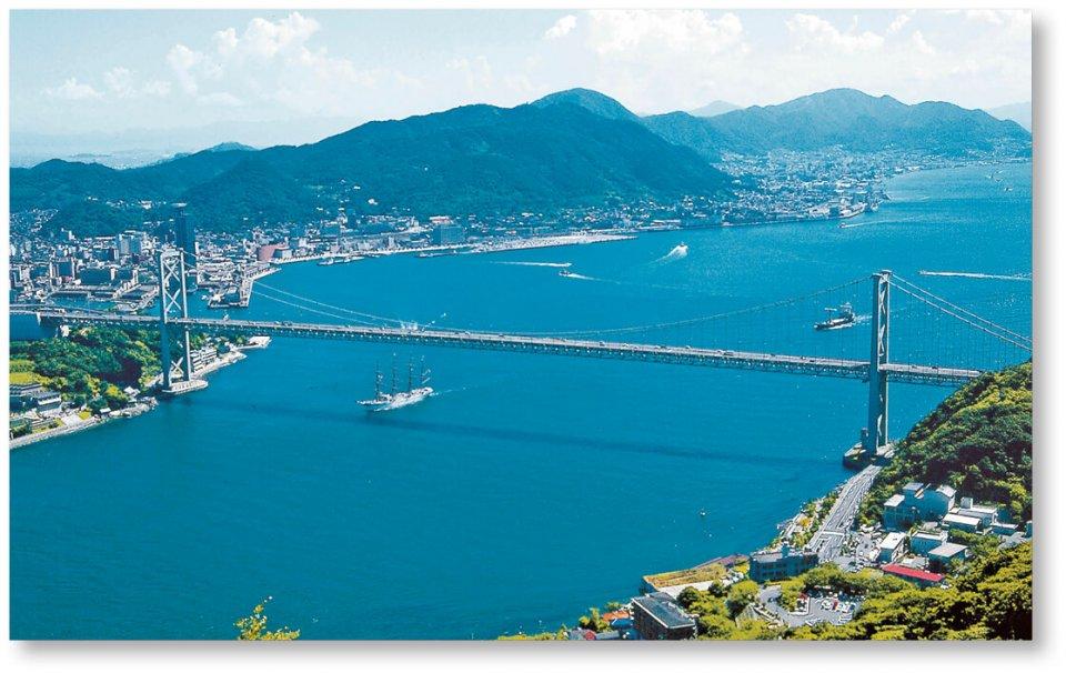 本州と九州を結ぶ「関門橋」