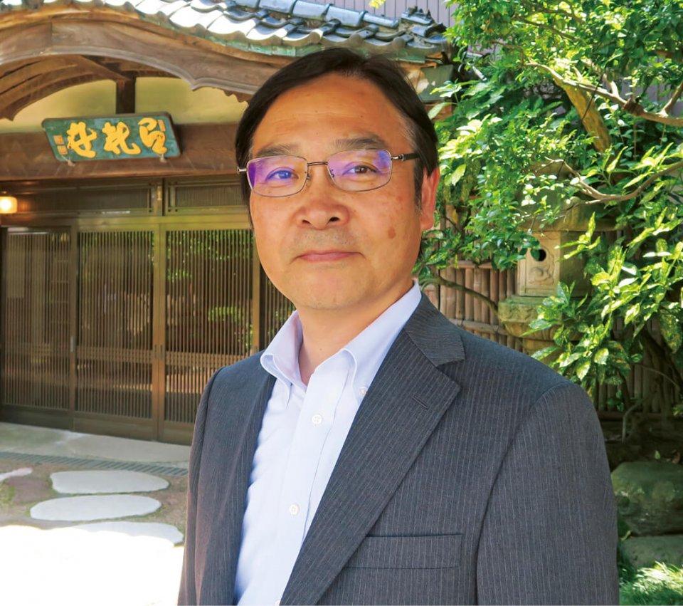 宇喜世社長の大島誠さん。「私は創業者の一族ではありませんが、まちの伝統や文化を残すために、百年料亭の精神を受け継いだ経営をやっていきます」