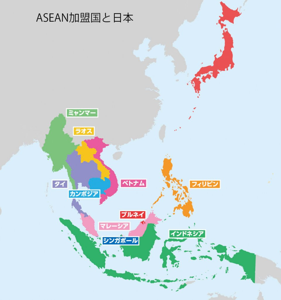 ASEAN加盟国と日本