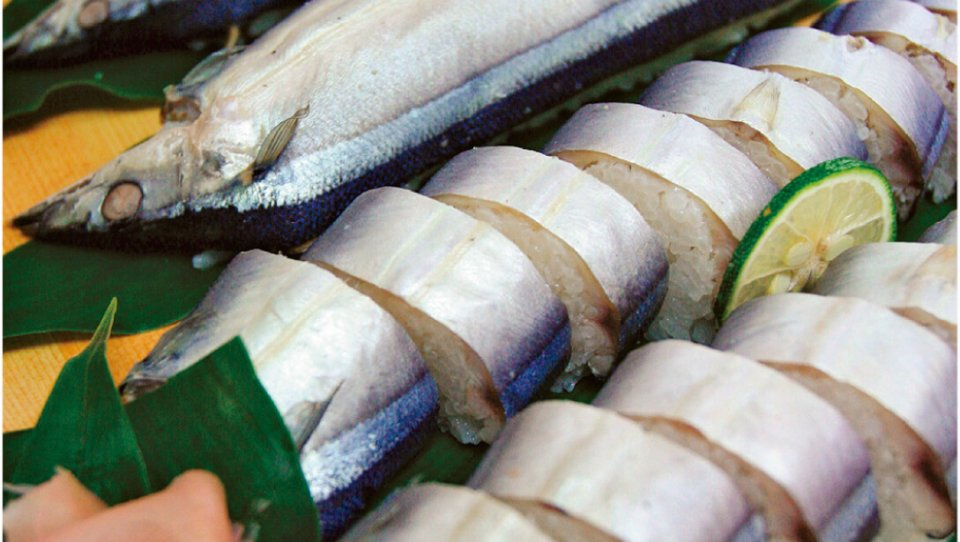 さんま寿司:熊野が発祥の地で、熊野灘が育んだ東紀州が誇る郷土食。保存会事務局は熊野商工会議所が務める