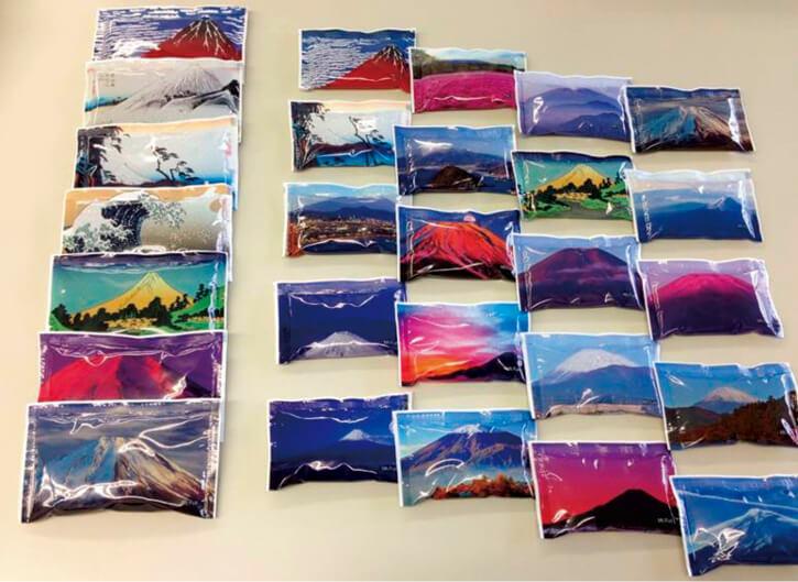 本社のある静岡県を象徴する富士山柄などパッケージデザインも多彩