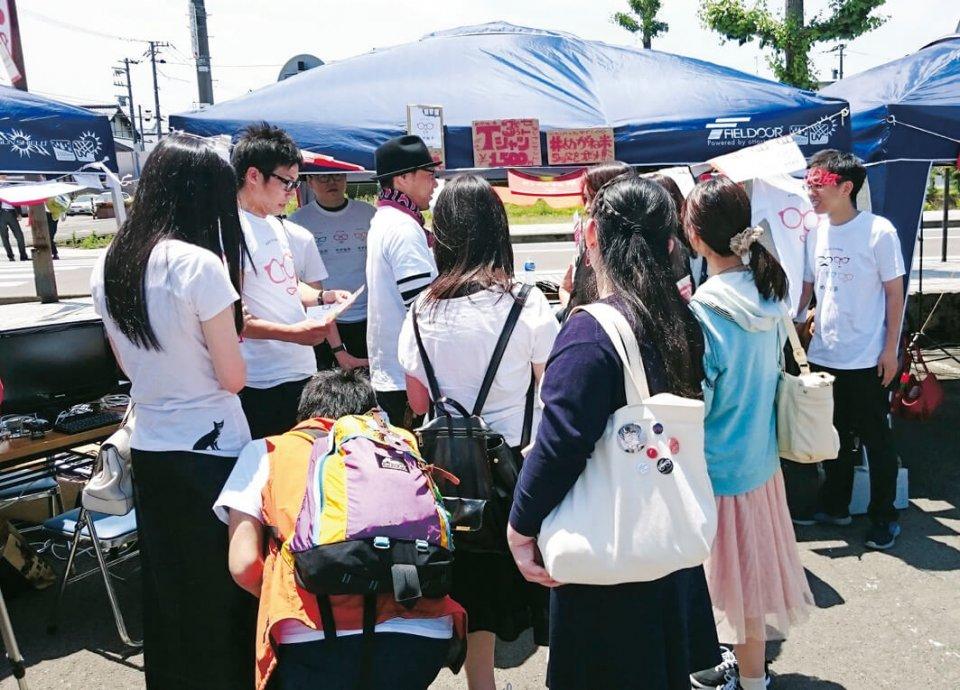 「めがねフェス」(鯖江市)への出店はこの通り大盛況