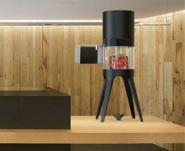 カフェカウンターにも置ける「見せるかき氷機」のイメージデザイン