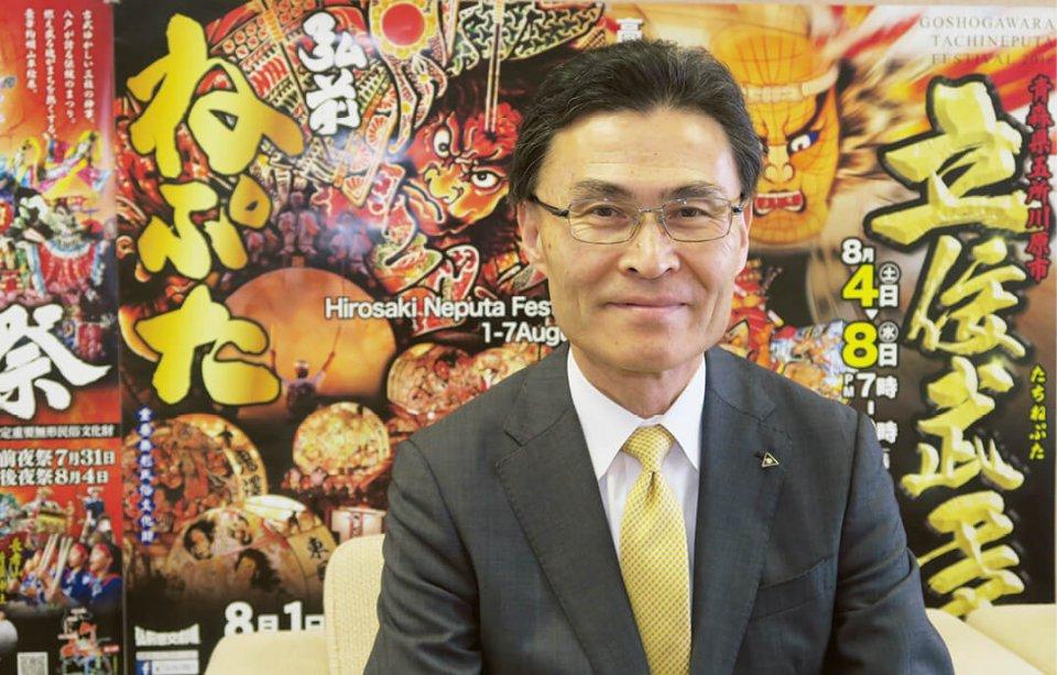 青森県観光連盟専務理事の高坂幹さん。「商工会議所と観光連盟が協力してインバウンド誘致を行うことでさまざまな展開が図れます」