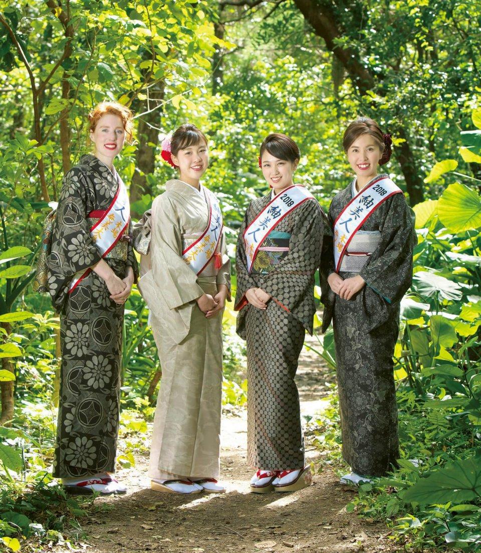 本場奄美大島紬などのPR役を担う2018紬美人