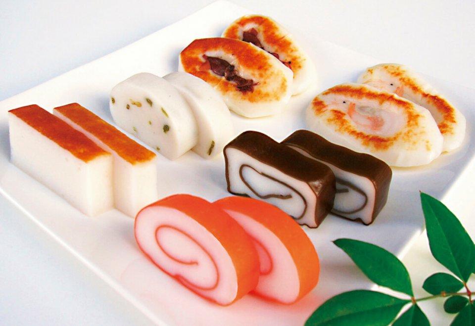 中村蒲鉾の定番製品。かまぼこには、必須アミノ酸とカルシウムが豊富に含まれている