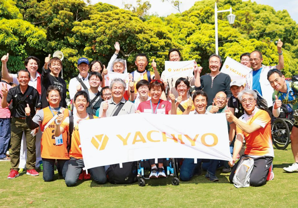 国内の大会では従業員たちも土田選手の応援に駆け付ける