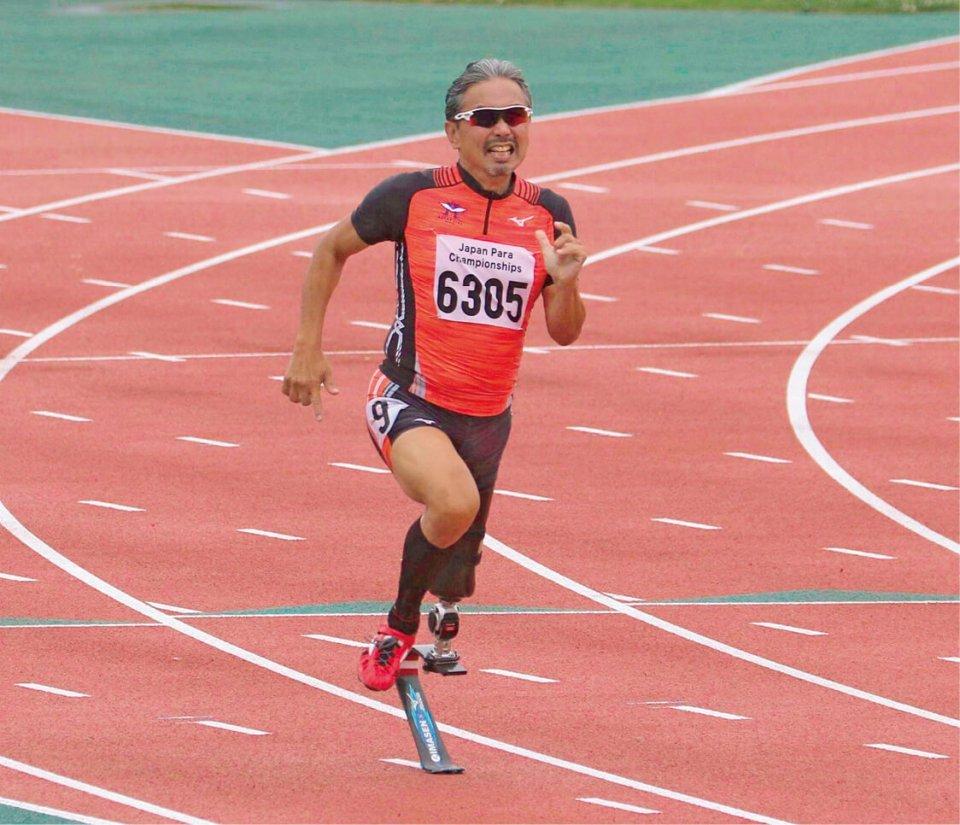 2018ジャパンパラ陸上競技大会に、今仙技術研究所の義足をつけて出場した