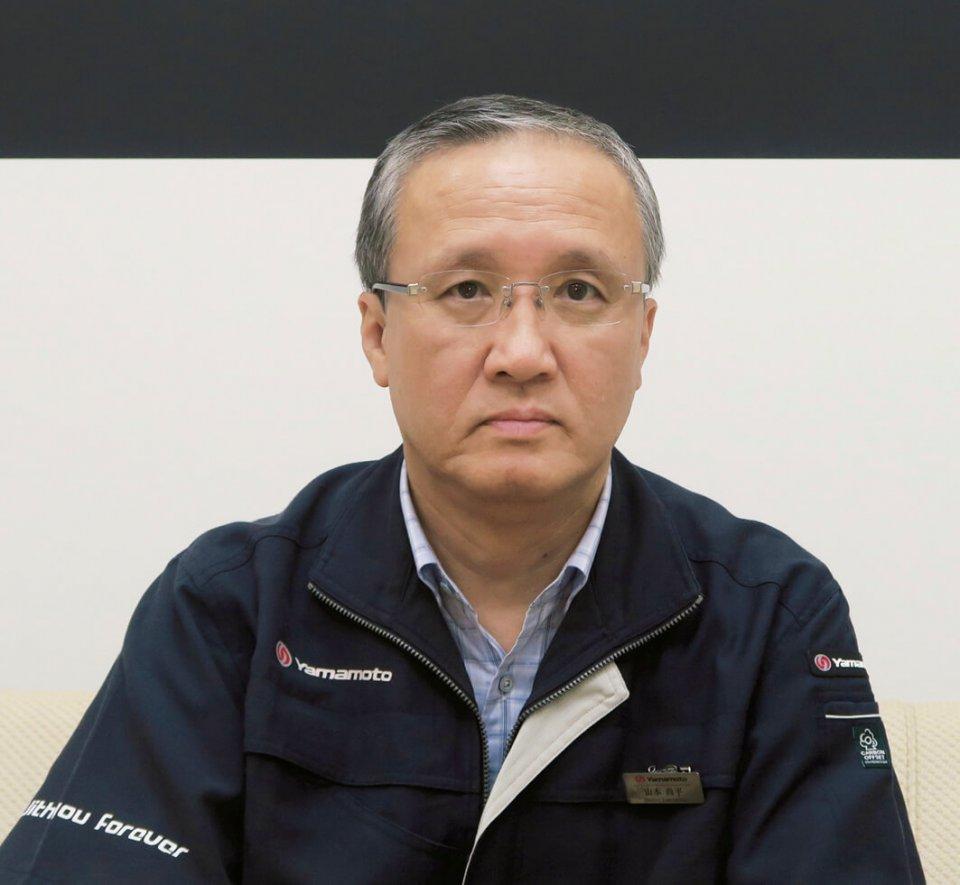 「人件費の安いところでつくるのではなく、尾道ですべてつくって世界で勝負していきます」と、山本製作所社長の山本尚平さん