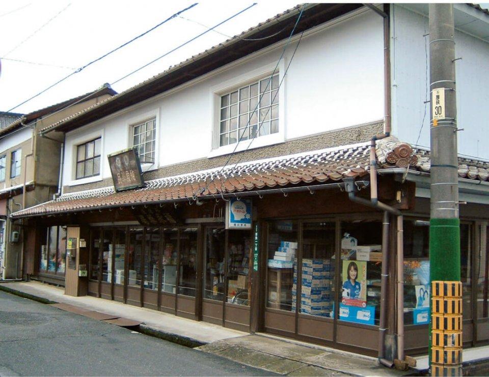 厚狭駅前の旧山陽道