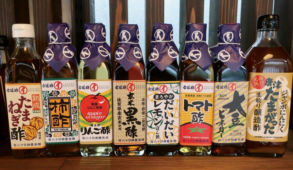 県内のさまざまな農産物を使ってつくった酢