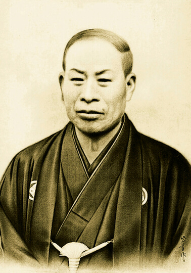 創業者の山本竹三良。近江牛を全国に普及させた最初の功労者の一人