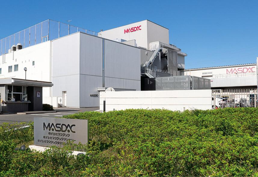 事業会社の管理などを行う株式会社マスダックの下に、マスダックマシナリーとマスダック東京ばな奈ファクトリーがある
