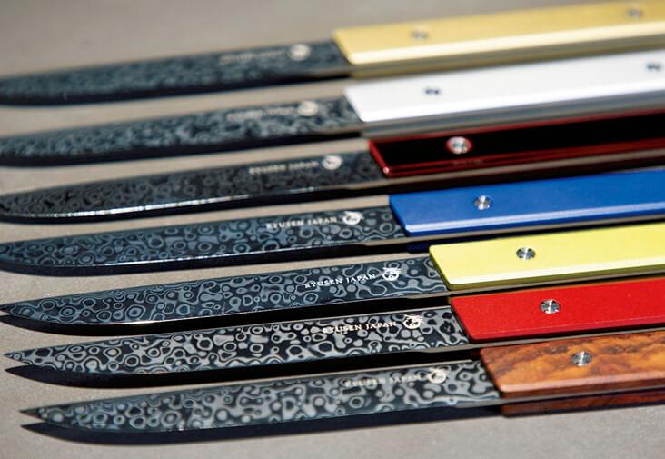 越前打刃物:農業用刃物(鎌など)のほか、ペーパーナイフや包丁も人気。海外でも高い評価を得ている