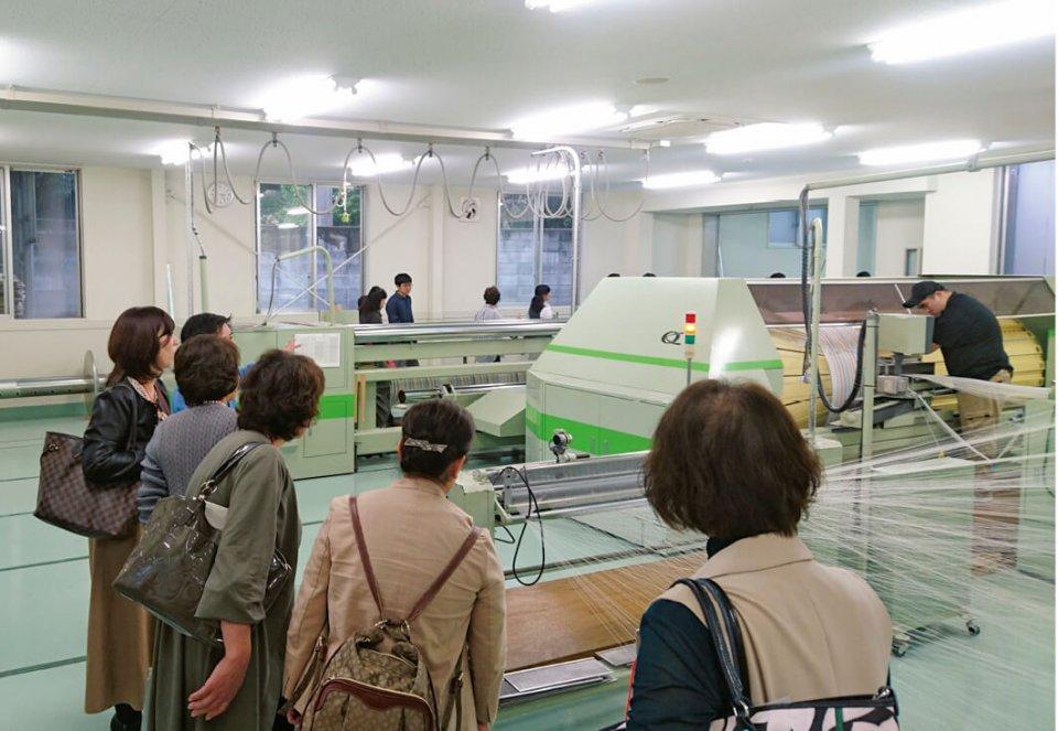 コンテックス株式会社(今治市)のタオル工場を視察