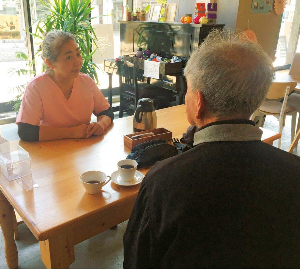 「暮らしの保健室晴ればれ」には、がん患者の相談スペース「がんカフェ」がある