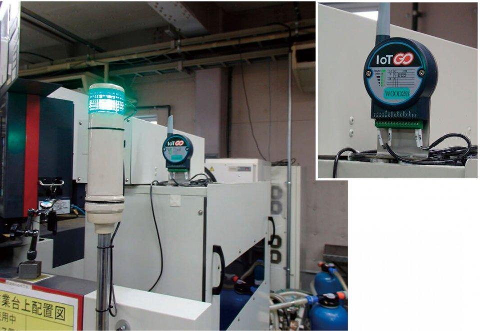 各機械(装置)からの信号は、このIoT端末に集約される。「IoT GO」の機器は産業用仕様のため信頼性が高く安全な稼働を実現する