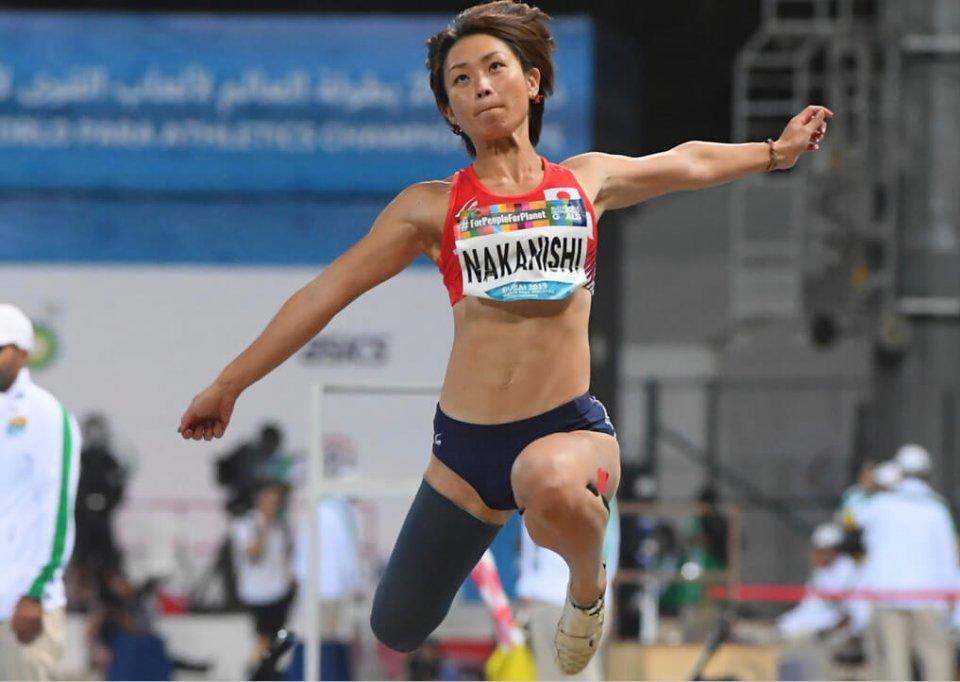 2019年世界パラ陸上選手権走り幅跳びで金メダルを決めた中西麻耶選手の最終跳躍 撮影:吉村もと