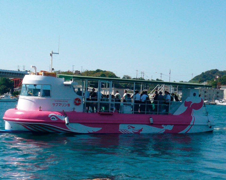 牛深海中公園をグラスボート「サブマリン号」で海中散歩
