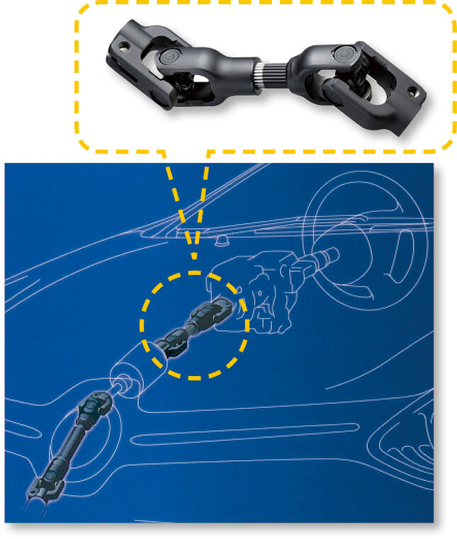 自社開発した冷間鍛造製の高精度フリースライドシャフト。次世代自動車に搭載されている